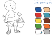 Caillou Coloring with Caillou