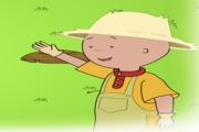 Caillou Gardening with Caillou