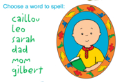 Caillou Spelling with Caillou